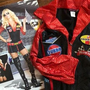 Race car driver Halloween costume 3pc set worn 1x!